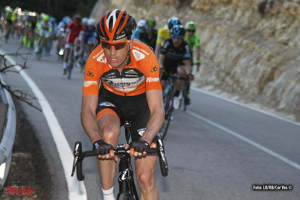 Fredes (Pobla de Benifassa) - Spain - wielrennen - cycling - radsport - cyclisme - Pieter Weening (Netherlands / Roompot - Oranje Peloton) pictured during Volta a la Comunitat Valenciana 2016 - stage-2 Castellon to Fredes (Pobla de Benifassa) - photo LB/RB/Cor Vos © 2016
