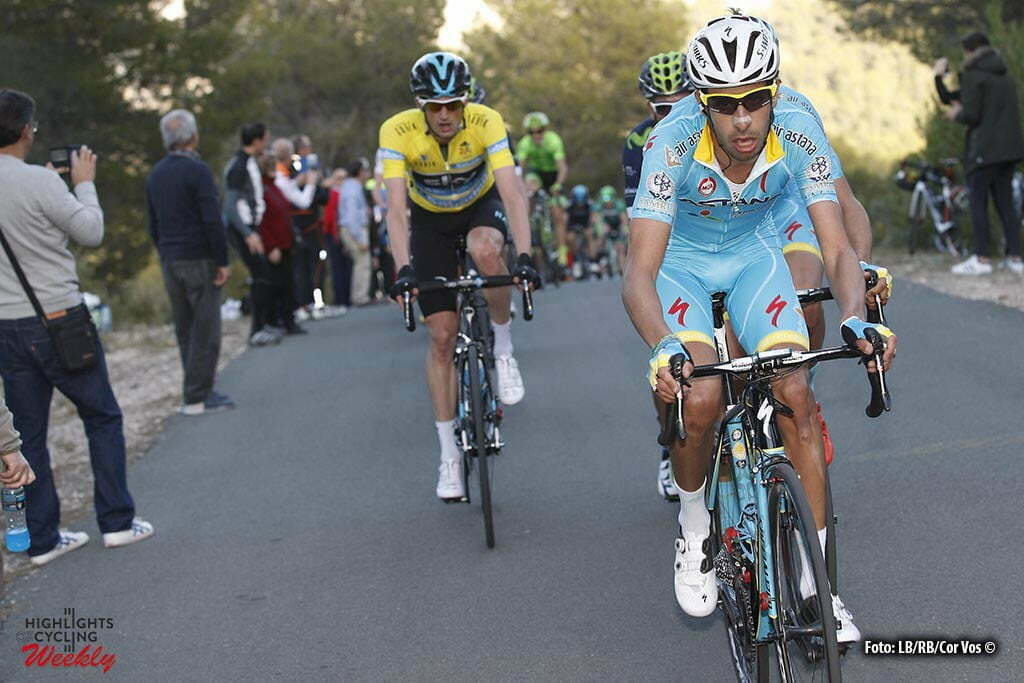 Xorret de Cati - Spain - wielrennen - cycling - radsport - cyclisme - Fabio Aru (Italie / Team Astana) - Wout Poels (Team Sky) pictured during Volta a la Comunitat Valenciana 2016 - stage-4 Orihuela - Xorret de Cati 141,3 km - 06/02/2016 - photo LB/RB/Cor Vos © 2016