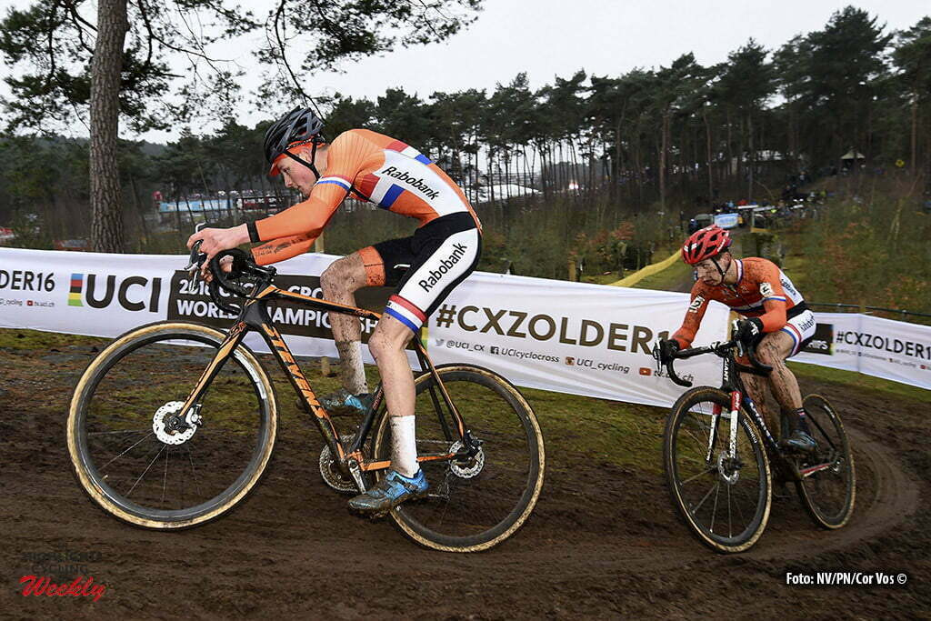 Heusden - Zolder - Belgium - wielrennen - cycling - radsport - cyclisme - Mathieu van de Poel and Lars van der Haar pictured during World Championships Cyclocross in Zolder 2015 Cat: - photo PN/Cor Vos © 2016