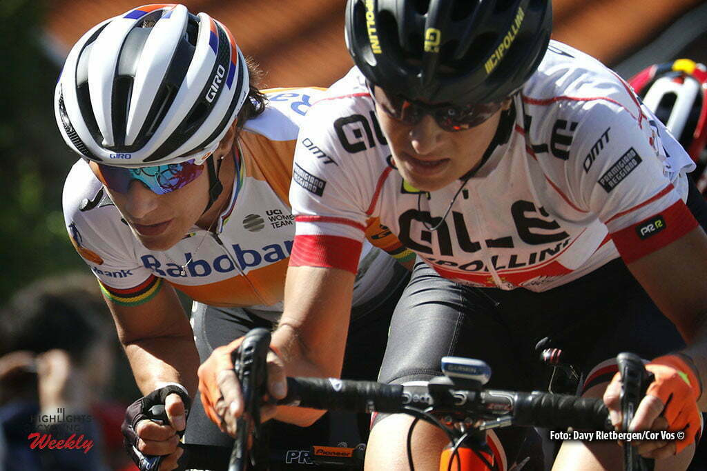 Huy - Belgium - wielrennen - cycling - radsport - cyclisme - Marianne Vos (Netherlands / Rabobank Liv Women Cycling Team) - Jasinska Malgorzata (Poland / Ale - Cipollini) pictured during Fleche Wallonne women - photo Davy Rietbergen/Cor Vos © 2016