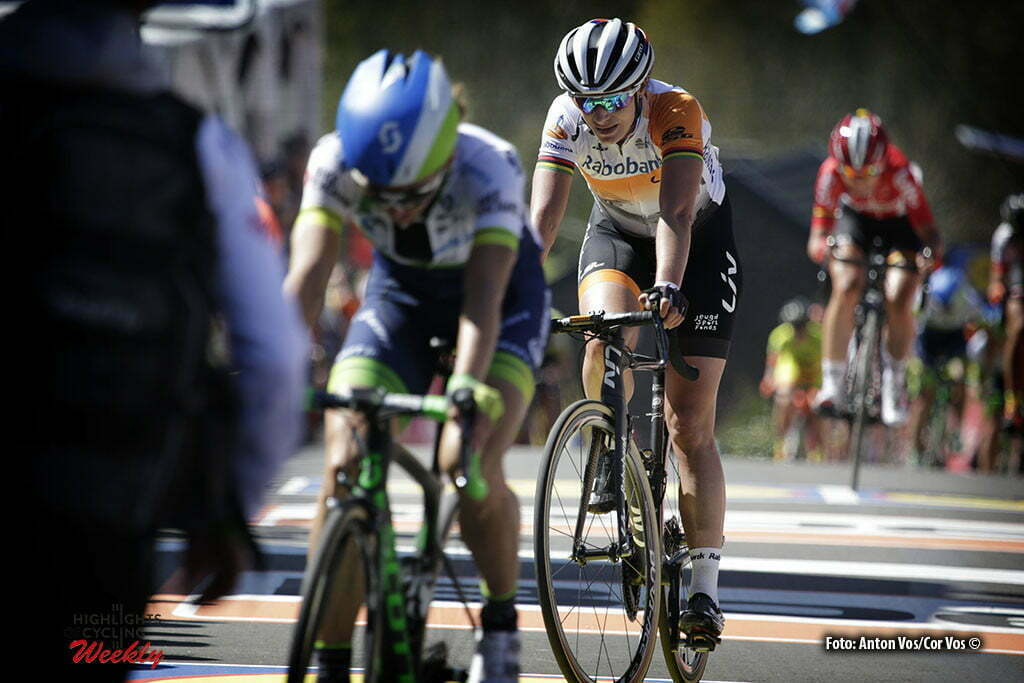 Huy - Belgium - wielrennen - cycling - radsport - cyclisme - Marianne Vos (Netherlands / Rabobank Liv Women Cycling Team) pictured during Fleche Wallonne women - photo Anton Vos/Cor Vos © 2016