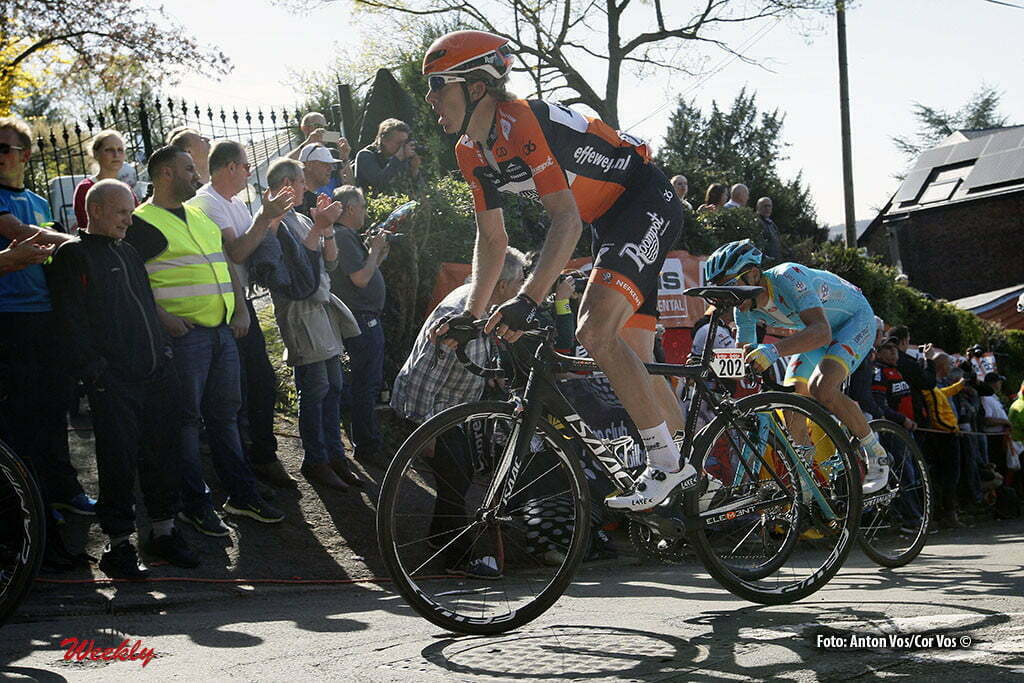 Huy - Belgium - wielrennen - cycling - radsport - cyclisme - Huub Duijn (Netherlands / Roompot - Oranje Peloton) pictured during Fleche Wallonne 2016 - photo Anton Vos/Cor Vos © 2016