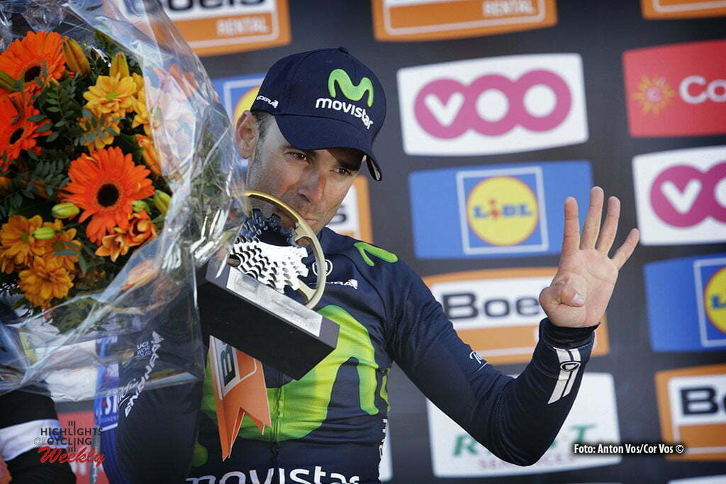 Huy - Belgium - wielrennen - cycling - radsport - cyclisme - Alejandro Valverde Belmonte (Spain / Team Movistar) pictured during Fleche Wallonne 2016 - photo Anton Vos/Cor Vos © 2016
