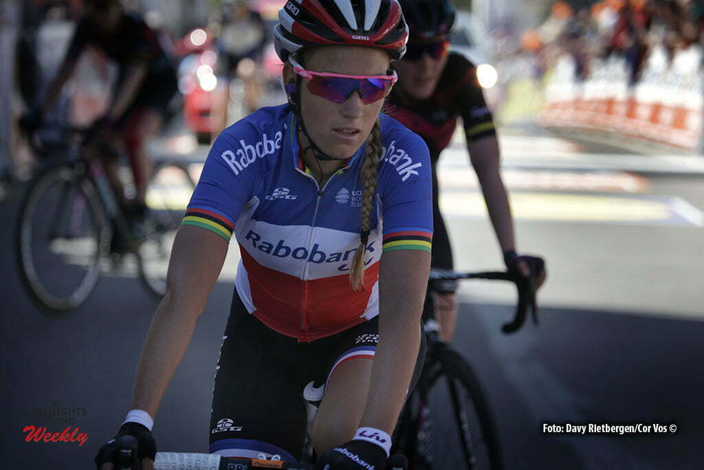 Huy - Belgium - wielrennen - cycling - radsport - cyclisme - Pauline Ferrand Prevot (France / Rabobank Liv Women Cycling Team) pictured during Fleche Wallonne women - photo Anton Vos/Cor Vos © 2016