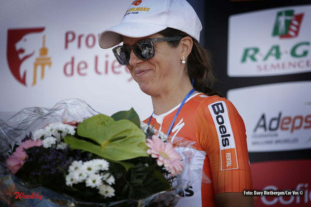 Huy - Belgium - wielrennen - cycling - radsport - cyclisme - Evelyn Stevens (USA / Boels Dolmans Cycling Team) pictured during Fleche Wallonne women - photo Davy Rietbergen/Cor Vos © 2016