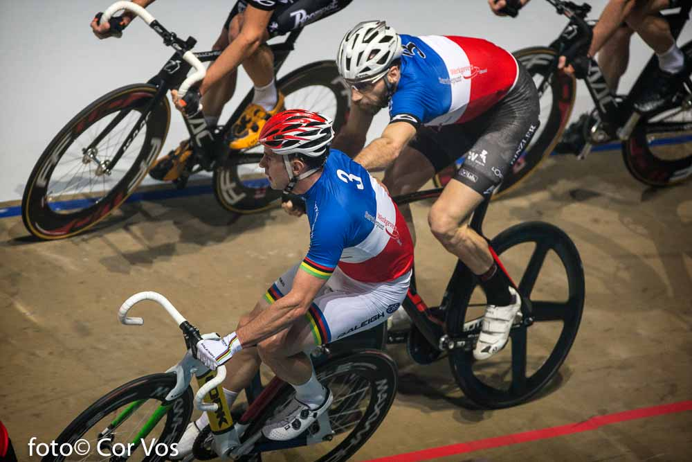 Rotterdam - wielrennen - cycling - radsport - cyclisme - Morgan Kneisky en Christian Grasmann pictured during day 3 of the Zesdaagse Rotterdam 2016 - foto Carla Vos/Cor Vos © 2016