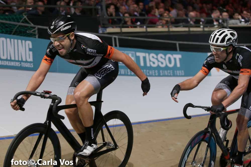 Rotterdam - wielrennen - cycling - radsport - cyclisme - Alberto Torres - Sebastian Mora Vedri pictured during the Zesdaagse Rotterdam 2016 day 6 - foto Carla Vos/Cor Vos © 2016