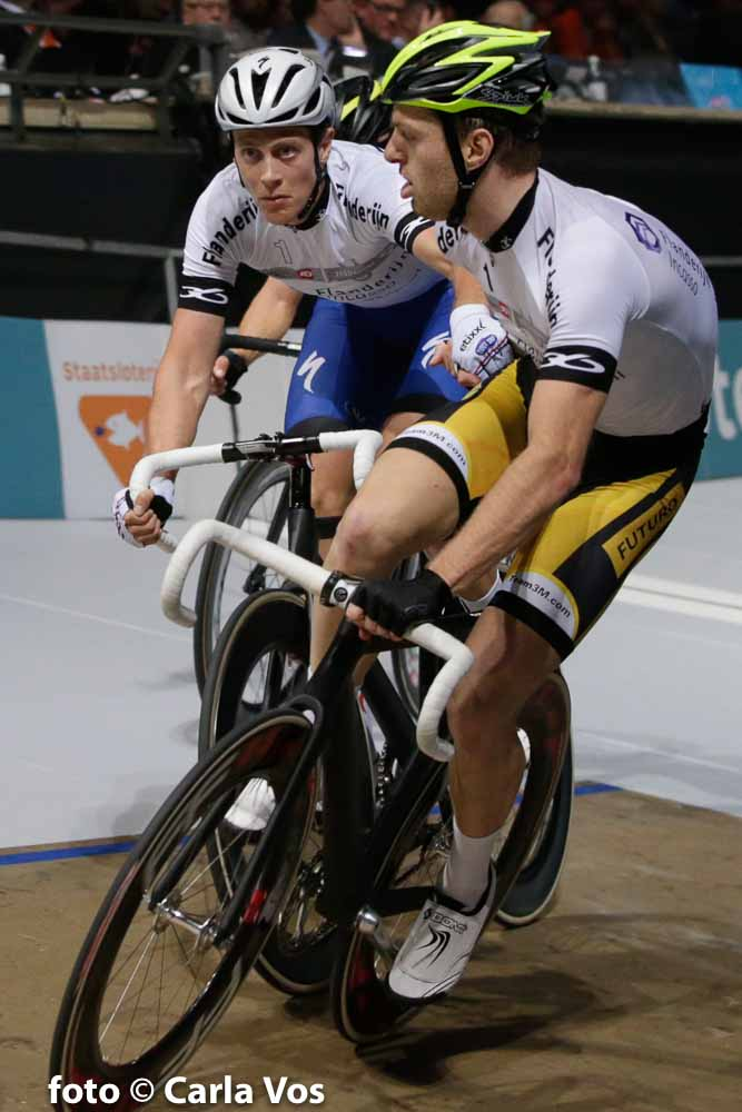 Rotterdam - wielrennen - cycling - radsport - cyclisme - Yoeri Havik - Niki Terpstra (Netherlands / Team Etixx - Quick Step) pictured during the Zesdaagse Rotterdam 2016 day 6 - foto Carla Vos/Cor Vos © 2016
