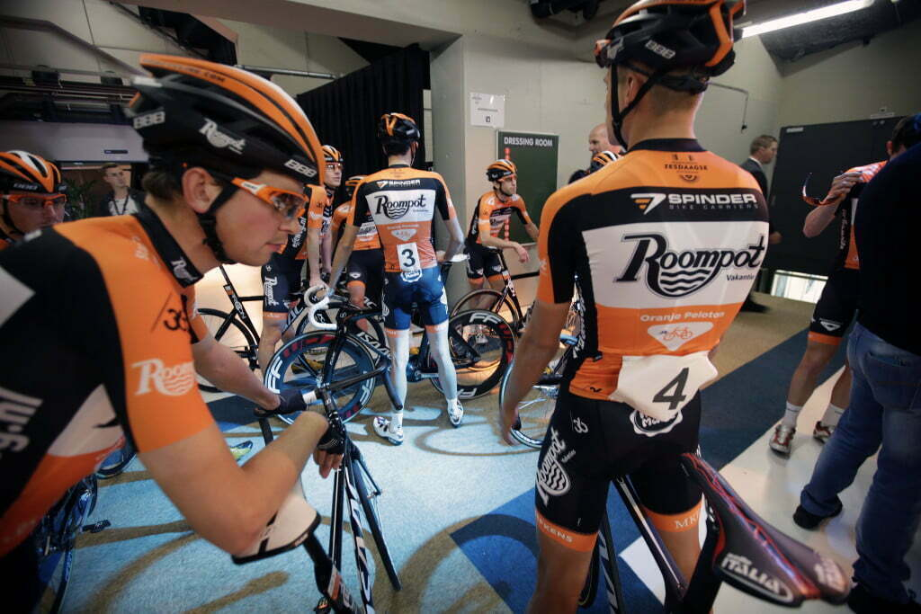 Rotterdam - Netherlands - wielrennen - cycling - radsport - cyclisme - Andre Looij (Orange Cycling Team Roompot) presentation Team Roompot/Oranjepeloton pictured during Sixdays of Rotterdam 2016 - photo Wessel van Keuk/
