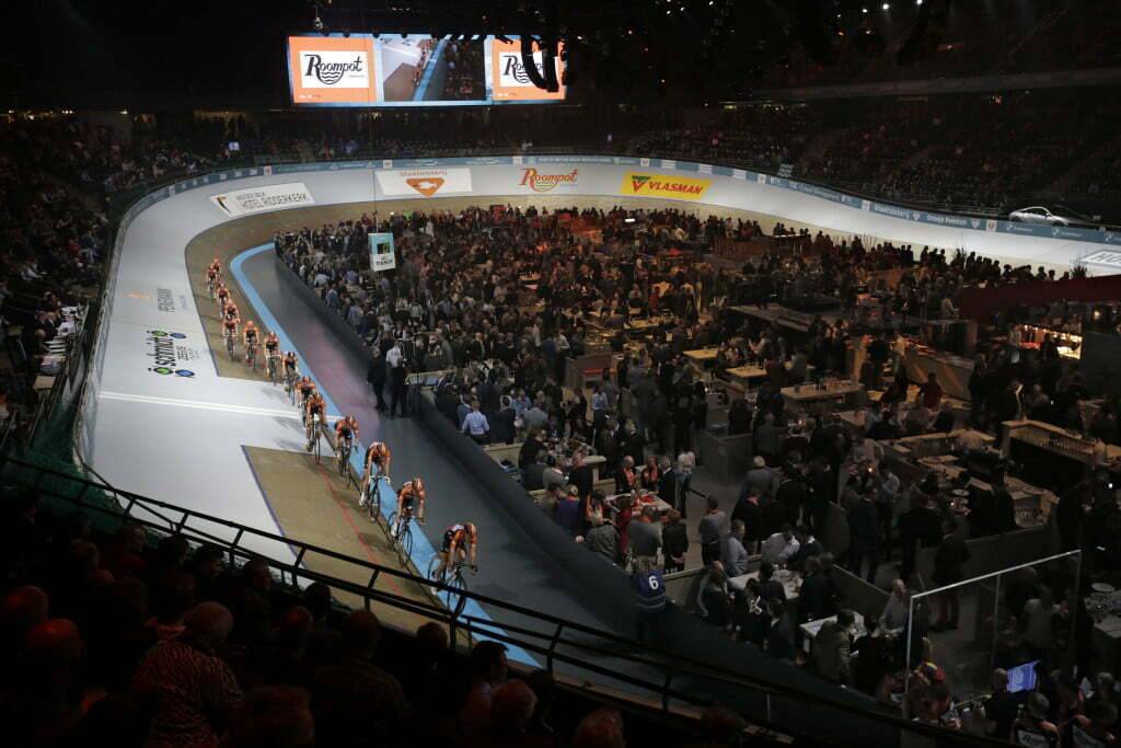 Rotterdam - Netherlands - wielrennen - cycling - radsport - cyclisme - presentation Team Roompot/Oranjepeloton pictured during Sixdays of Rotterdam 2016 - photo Wessel van Keuk/Cor Vos © 2015
