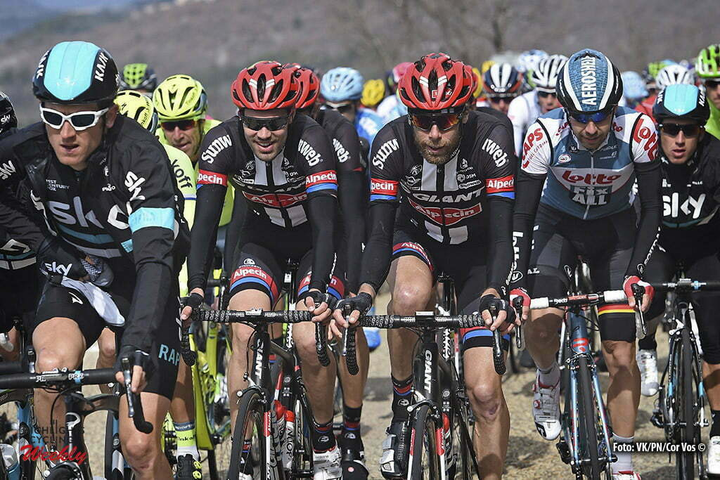 Salon-de-Provence - France - wielrennen - cycling - radsport - cyclisme - Tom Dumoulin (Netherlands / Team Giant - Alpecin) - Laurens Ten Dam (Netherlands / Team Giant - Alpecin) during the stage 5 of the 74th Paris - Nice cycling race, a stage of 198 kms with start in Saint-Paul-Trois-Chateaux and finish in Salon-de-Provence, France - photo VK/PN/Cor Vos © 2016