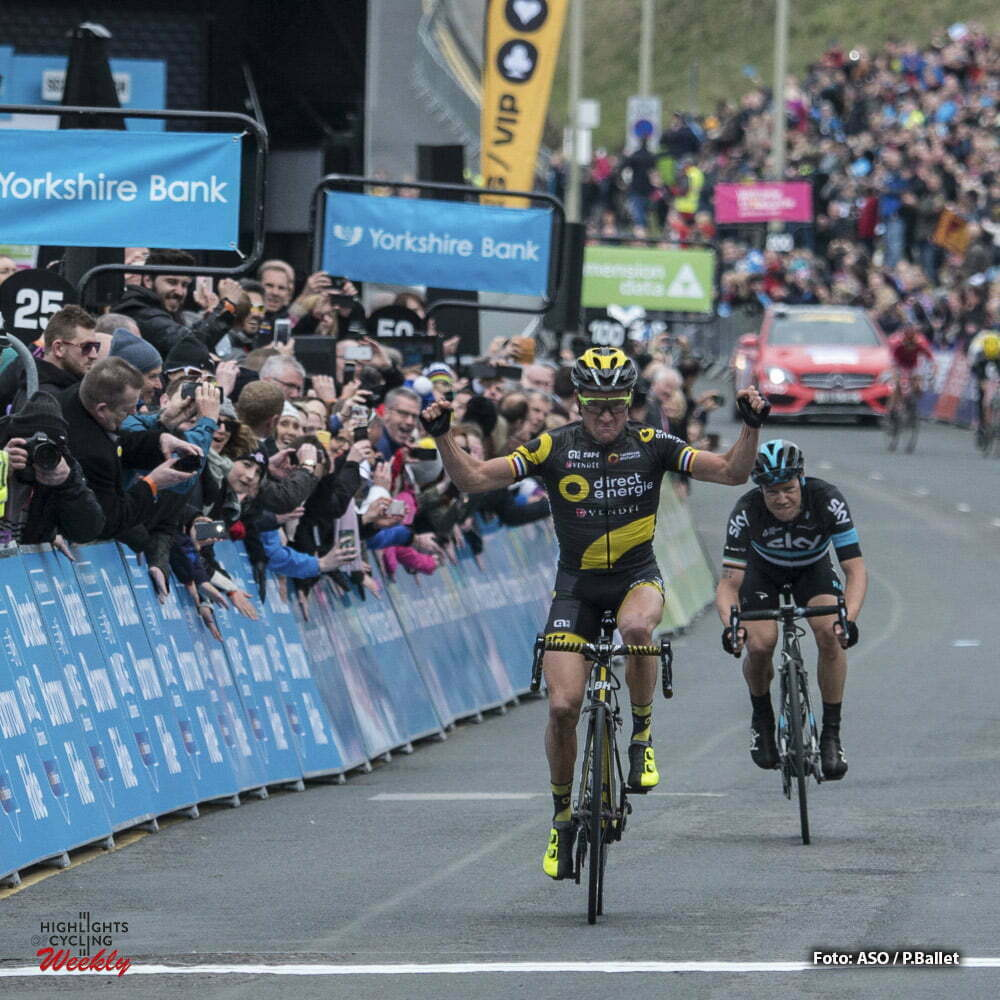 Tour de Yorkshire - 01/05/2016 - Troisieme etape : Middlesbrough / Scarborough (198km) - Royaume-Uni - Victoire de Thomas VOECKLER (DIRECT ENERGIE); a Scarborough.