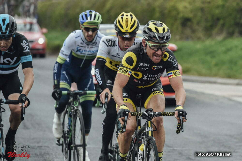 Tour de Yorkshire 2016 - 01/05/2016 - Troisieme etape : Middlesbrough / Scarborough (198km) - Royaume-Uni - VOECKLER Thomas; Team Direct Energie - KRUIJSWIJK Steven; Team Lotto NL-Jumbo - YATESAdam; Team Orica GreenEdge