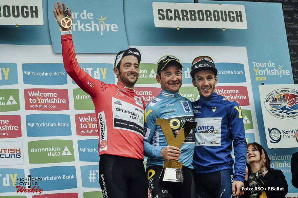 Tour de Yorkshire 2016 - 01/05/2016 - Troisieme etape : Middlesbrough / Scarborough (198km) - Royaume-Uni - HAAS Nathan; Team Dimension Data; meilleur grimpeur - VOECKLER Thomas; Team Direct Energie; vainqueur au classement general du Tour du Yorkshire 2016 - YATES Adama; Team Orica GreenEdge; best british rider