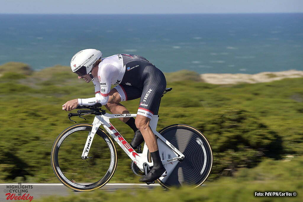 Sagres - Portugal - wielrennen - cycling - radsport - cyclisme - Fabian Cancellara (Suisse / Trek Factory Racing) pictured during stage 3 of the 42nd Tour of Algarve cycling race, an individual time trial of 18km, with start and finish in Sagres on February 19, 2016 in Sagres, Portugal. - photo PdV/PN/Cor Vos © 2016