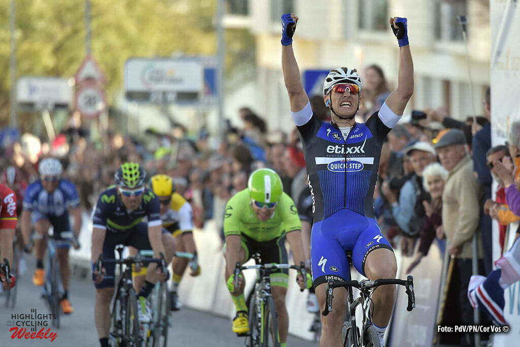 Tavira - Portugal - wielrennen - cycling - radsport - cyclisme - Kittel Marcel (Germany / Team Etixx - Quick Step) wins the sprint and Wouter Wippert (Netherlands / Cannondale Pro Cycling Team) second at the end of stage 4 of the 42nd Tour of Algarve cycling race with start in S. Brss de Alportel and finish in Tavira on February 20, 2016 in Tavira, Portugal - photo PdV/PN/Cor Vos © 2016