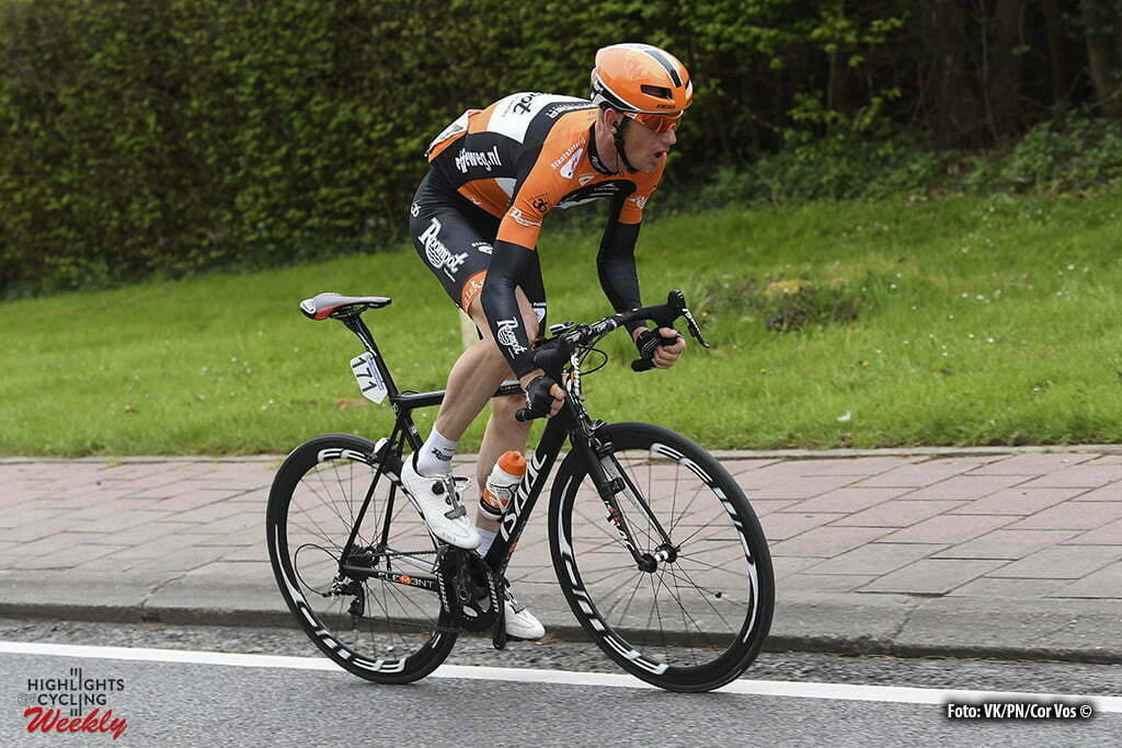 Overijse - Belgium - wielrennen - cycling - radsport - cyclisme - Pieter Weening (Netherlands / Roompot - Oranje Peloton) pictured during the 56th Brabantse Pijl cycling race with start in Leuven and finish in Overijse (205 Km) on April 13, 2016 in Overijse , Belgium - photo VK/PN/Cor Vos © 2016