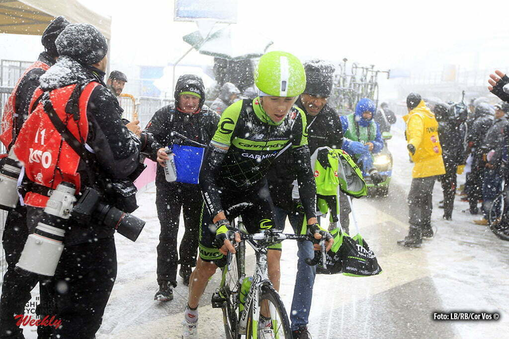 Vorig jaar ging de vijfde etappe gewoon door. Nu is de organisatie wijzer geworden en is de 5e etappe afgelast - Terminillo - Itay - wielrennen - cycling - radsport - cyclisme - Formolo Davide (Team Cannondale - Garmin) pictured during Tirreno Adriatico 2015 - stage - 5 from IEsanatoglia to Terminillo 197 km - 15/03/2015 - photo Claudio Minardi/Cor Vos © 2015