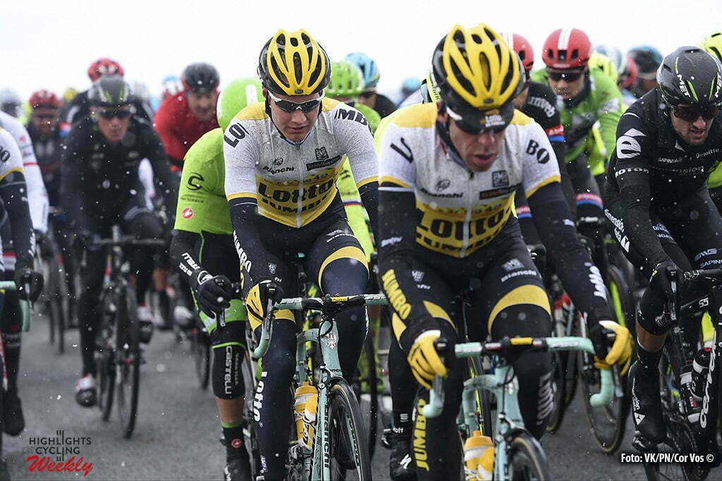 VendÙme - France - wielrennen - cycling - radsport - cyclisme - Wilco Kelderman (Netherlands / Team Lotto Nl - Jumbo) - Bram Tankink (Netherlands / Team Lotto Nl - Jumbo) pictured during 74th edition of Paris - Nice - stage 1 - CondÈ-sur-Vesgre to VendÙme - 198km - photo VK/PN/Cor Vos © 2016