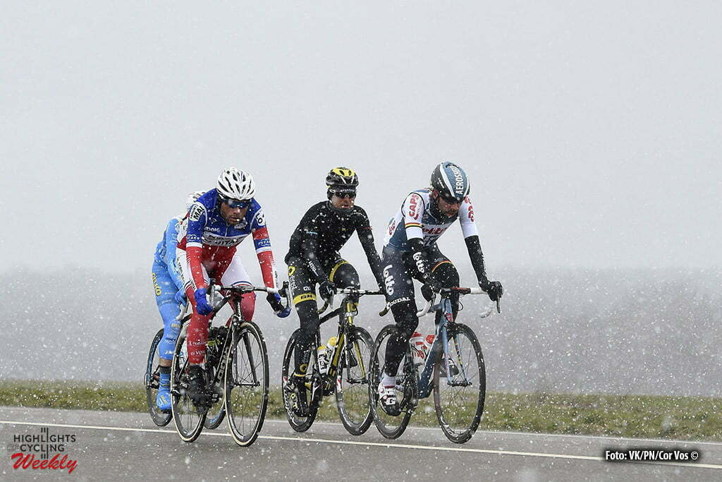 VendÙme - France - wielrennen - cycling - radsport - cyclisme - Thomas De Gendt (Belgium / Team Lotto Soudal) - Tronet Steven (France / Fortuneo - Vital Concept) pictured during 74th edition of Paris - Nice - stage 1 - CondÈ-sur-Vesgre to VendÙme - 198km - photo VK/PN/Cor Vos © 2016