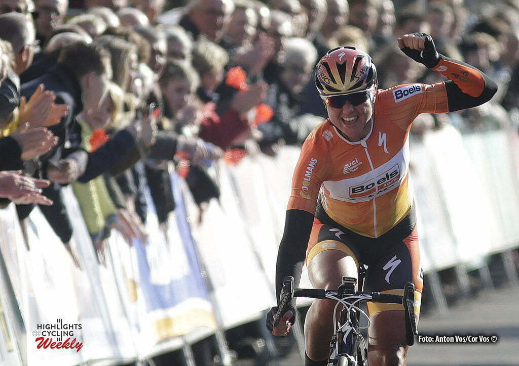 Hoogeveen - Netherlands - wielrennen - cycling - radsport - cyclisme - Blaak Chantal (Netherlands / Boels Dolmans Cycling Team) pictured during the Women's World Tour Ronde van Drenthe in Hoogeveen - photo Anton Vos/Cor Vos © 2016