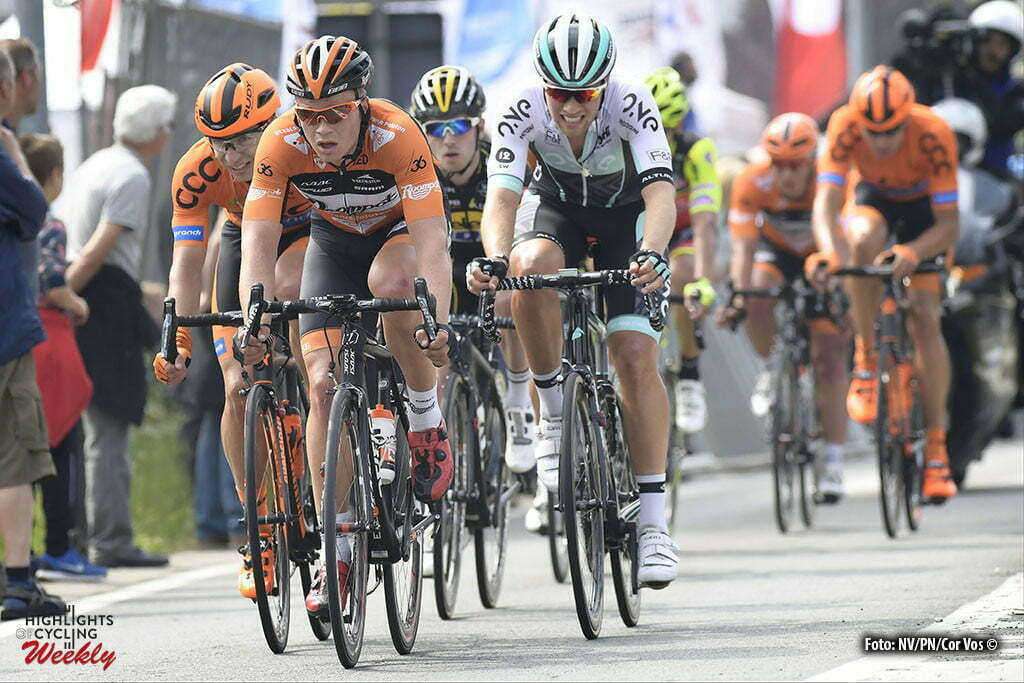 Heist-op-den-Berg - Belgium - wielrennen - cycling - radsport - cyclisme - Andre Looij (Netherlands / Roompot - Oranje Peloton) pictured during the Carrefour Market Heistse Pijl cycling race with start in Turnhout and finish in Heist-op-den-Berg, Belgium - photo Cor Vos © 2015