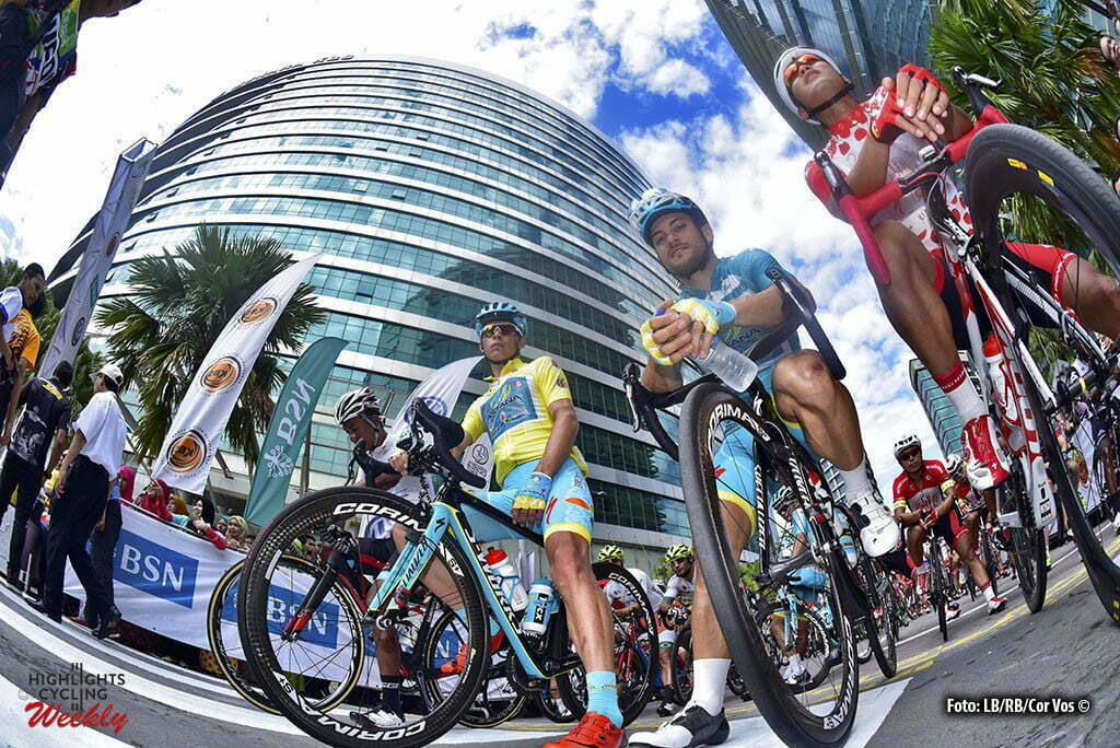Rambau - Malaysia - wielrennen - cycling - radsport - cyclisme - illustration - sfeer - illustratie start Miguel Angel Lopez (Astana) - Andrea Guardini (Astana) pictured during Tour de Langkawi 2016 - stage 6 from Putrajaya to Rambau - 147.6 km - photo LB/RB/Cor Vos © 2016