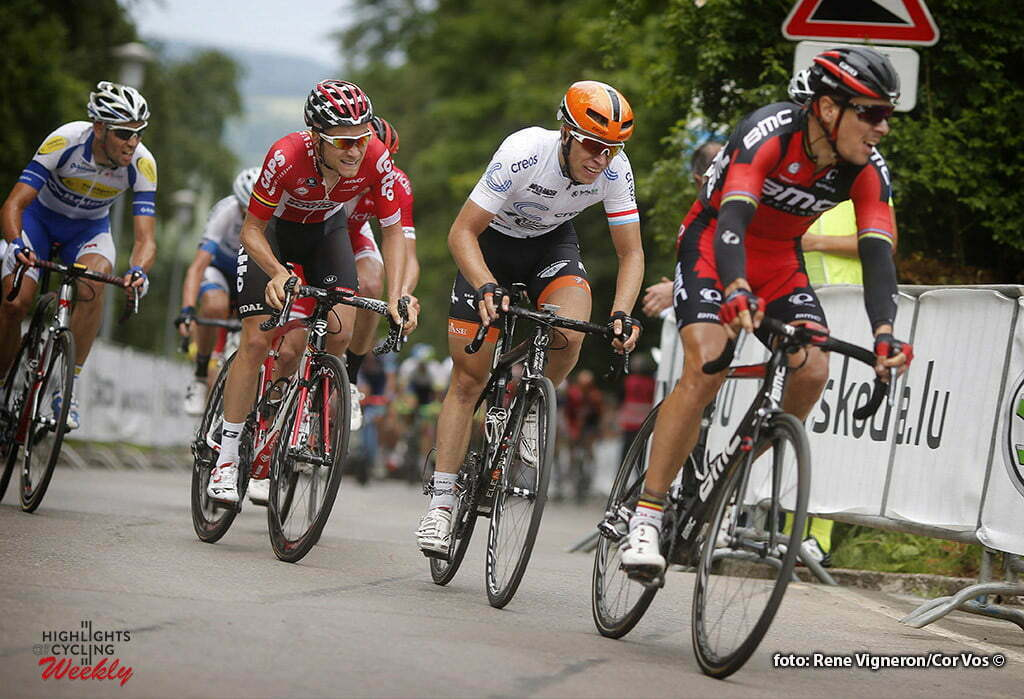 Schifflange - Luxembourg - wielrennen - cycling - radsport - cyclisme - Philippe Gilbert (Belgium / BMC Racing Team) - Maurits Lammertink (Netherlands / Roompot - Oranje Peloton) - Tosh Van Der Sande (Belgium / Team Lotto Soudal) pictured during stage 2 of the Tour de Luxembourg 2016 - from Rosport to Schifflange (162,8 km) - photo Rene Vigneron/Cor Vos © 2016