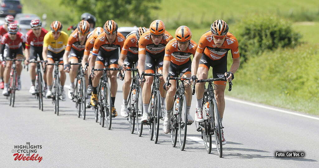 Differdange - Luxembourg - wielrennen - cycling - radsport - cyclisme - illustration - sfeer - illustratie team Roompot - Oranje Peloton - Maurits Lammertink (Netherlands / Roompot - Oranje Peloton) pictured during stage 3 of the Tour de Luxembourg 2016 - from Eschweiler (Wiltz) to Differdange (177,4 km) - photo Rene Vigneron/Cor Vos © 2016