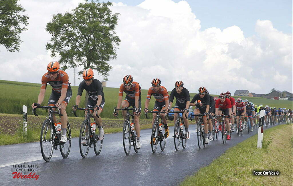 Differdange - Luxembourg - wielrennen - cycling - radsport - cyclisme - Tim Kerkhof (Netherlands / Roompot - Oranje Peloton) and teammates Roompot - Oranje Peloton pictured during stage 3 of the Tour de Luxembourg 2016 - from Eschweiler (Wiltz) to Differdange (177,4 km) - photo Rene Vigneron/Cor Vos © 2016