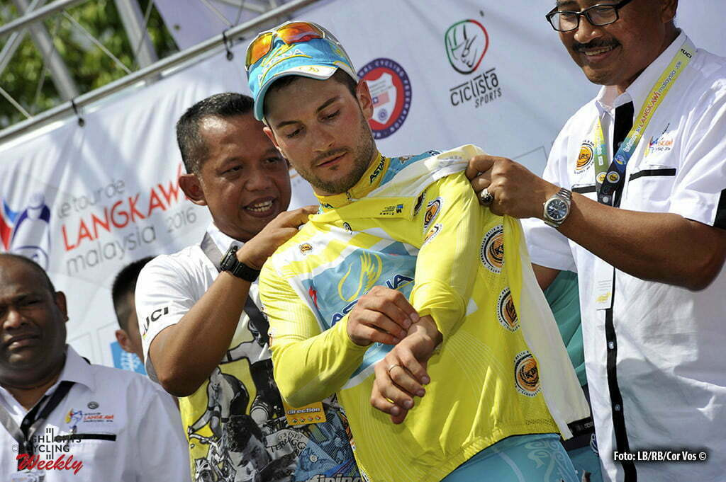 Baling - Malaysia - wielrennen - cycling - radsport - cyclisme - Andrea Guardini (Astana) pictured during Tour de Langkawi 2016 - stage 1 from Kangar to Baling 165.5 km - 24/02/2016 - photo LB/RB/Cor Vos © 2016