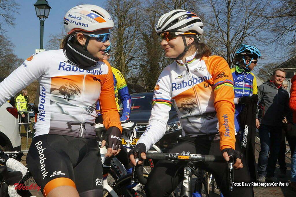 Dwingeloo - Netherlands - wielrennen - cycling - radsport - cyclisme - Vos Marianne (Netherlands / Rabobank Liv Women Cycling Team) - Knetemann Roxane (Netherlands / Rabobank Liv Women Cycling Team) pictured during the Drentse Acht van Westerveld in Dwingeloo - photo Davy Rietbergen/Cor Vos © 2016