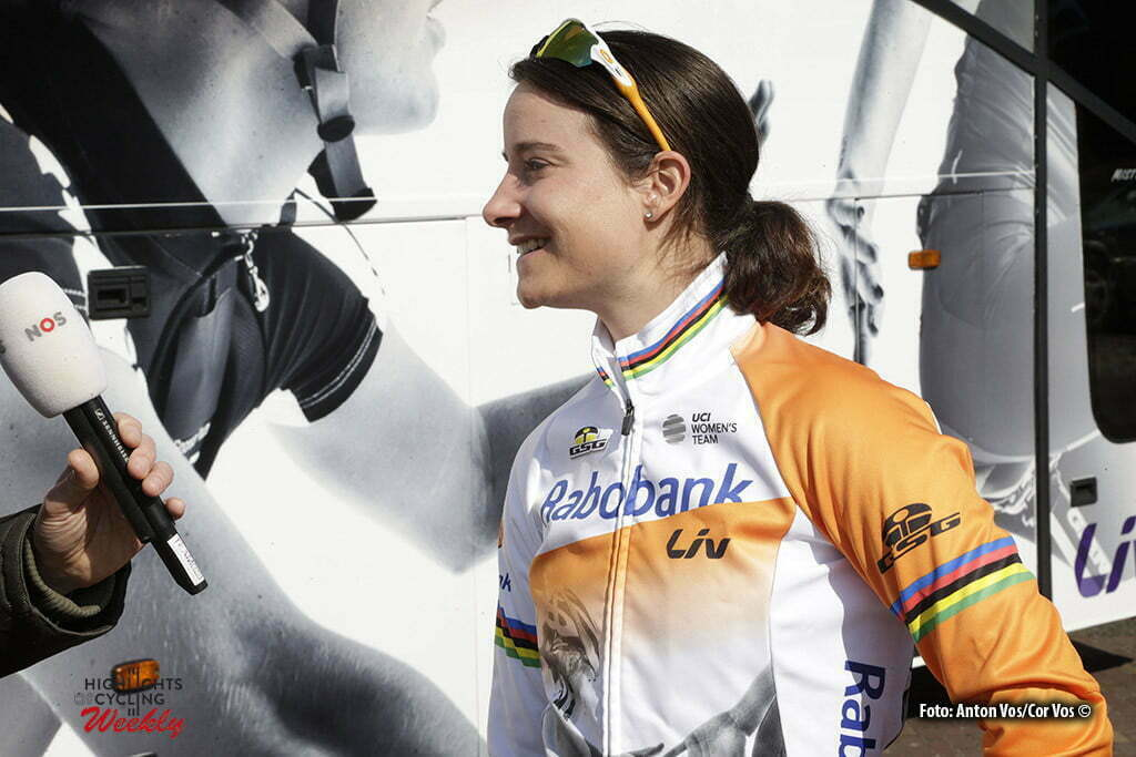 Dwingeloo - Netherlands - wielrennen - cycling - radsport - cyclisme - Vos Marianne (Netherlands / Rabobank Liv Women Cycling Team) pictured during the Drentse Acht van Westerveld - a women race in Dwingeloo, the Netherlands - photo Anton Vos/Cor Vos © 2016
