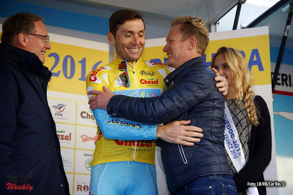 Bordighera - wielrennen - cycling - radsport - cyclisme - Andrei Grivko (Astana) - Alexandre Vinokourov pictured during Le Mediterraneenne 2016 - stage 4 - from Bordighera to Bordighera 87 Km - 14/02/2016 - photo LB/RB/Cor Vos © 2016