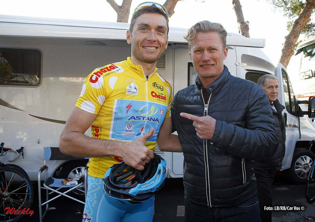 Bordighera - wielrennen - cycling - radsport - cyclisme - Andrei Grivko (Astana) - Alexandr Vinokourov (Astana) pictured during Le Mediterraneenne 2016 - stage 4 - from Bordighera to Bordighera 87 Km - 14/02/2016 - photo LB/RB/Cor Vos © 2016