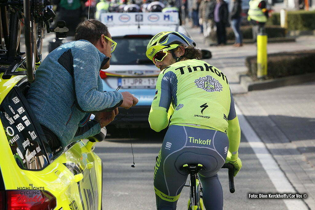 Gent - Belgium - wielrennen - cycling - radsport - cyclisme - Boaro Manuele (Italie / Team Tinkoff - Tinkov) pictured during Omloop Het Nieuwsblad- mannen - men elite / Circuit Het Nieuwsblad- hommel elite 2016 - photo Dion Kerckhoffs//Cor Vos © 2016