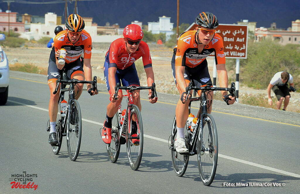 Naseem Park - Oman - wielrennen - cycling - radsport - cyclisme - Ivar Slik (Netherlands / Roompot - Oranje Peloton) - Brian van Goethem (Netherlands / Roompot - Oranje Peloton) pictured during Tour of Oman stage 3 from Al Sawadi Beach - Naseem Park - photo Cor Vos/Miwa iijima © 2016