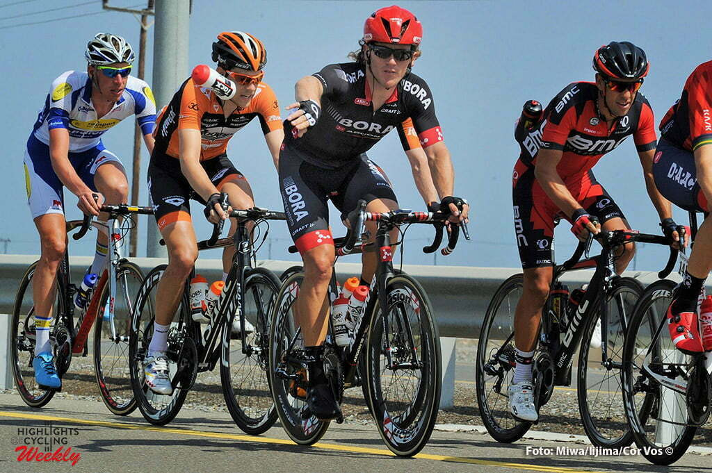 Naseem Park - Oman - wielrennen - cycling - radsport - cyclisme - illustration - sfeer - illustratie Tacx bidon - Bora Argon 18 - Kreder Wesley (Netherlands / Roompot - Oranje Peloton) - Richie Porte (Australien / BMC Racing Team) pictured during Tour of Oman stage 3 from Al Sawadi Beach - Naseem Park - photo Cor Vos/Miwa iijima © 2016