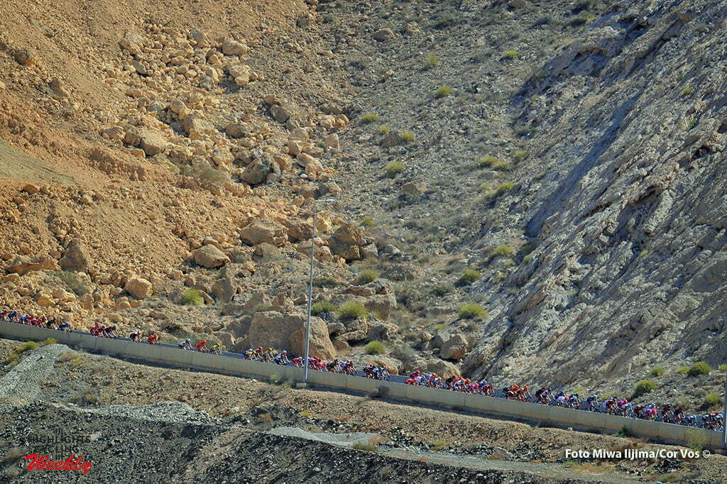 Ministry of Tourism - Oman - wielrennen - cycling - radsport - cyclisme - illustration - sfeer - illustratie peloton in the mountains - de bergen pictured during Tour of Oman stage 5 from Yiti (Al Sifah) to Ministry of Tourism - photo Cor Vos/Miwa iijima © 2016