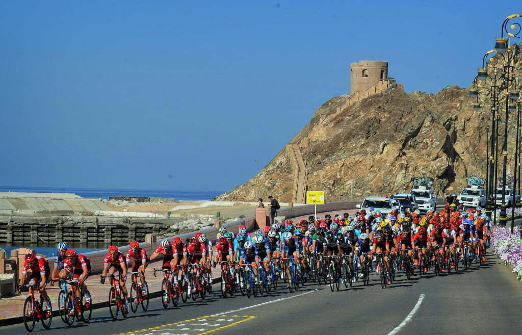 Matrah Corniche - Oman - wielrennen - cycling - radsport - cyclisme - illustration - sfeer - illustratie team Drapac Professional Cycling pictured during Tour of Oman stage 6 from The Wave Muscat to Matrah Corniche - photo Cor Vos/Miw Iijima © 2016