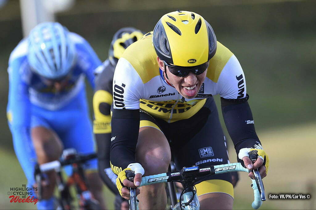 VANMARCKE Sep of Team LottoNL Jumbo during the stage 4 of the 74th Paris - Nice cycling race, a stage of 195,5 kms with start in Julienas and finish in Romans-sur-Isere, France. *** FRANCE - 10/03/2016 Motorcycle driver Pierre Velaerts - Photo by Vincent Kalut / Photo News ***
