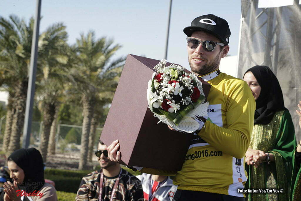Qatar University - Qatar - wielrennen - cycling - radsport - cyclisme - Cavendish Mark (GBR / Team Dimension Data) pictured during Tour of Qatar Elite - Stage 2 from Qatar University to Qatar University - photo Anton Vos/Cor Vos © 2016