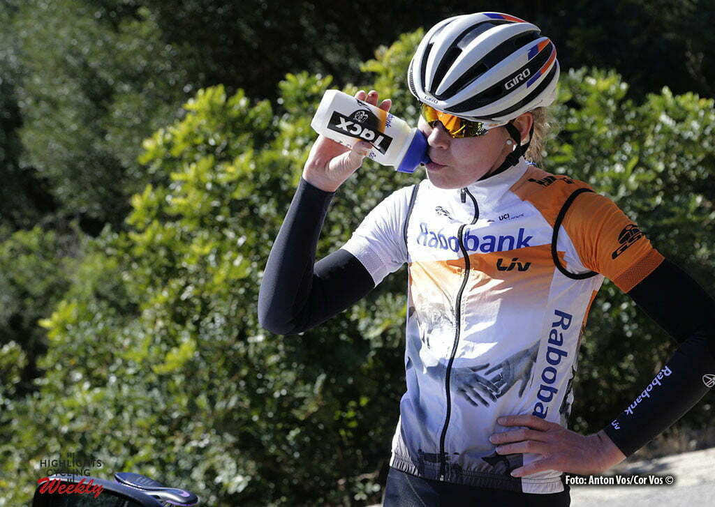 Calpe - Spain - wielrennen - cycling - radsport - cyclisme - Van der Breggen Anna (Netherlands / Rabobank Liv Women Cycling Team) - Tacx bidon pictured during trainingstage team Rabo LIV Women Cycling Team in Calpe, Spain - photo Anton Vos/Cor Vos © 2016