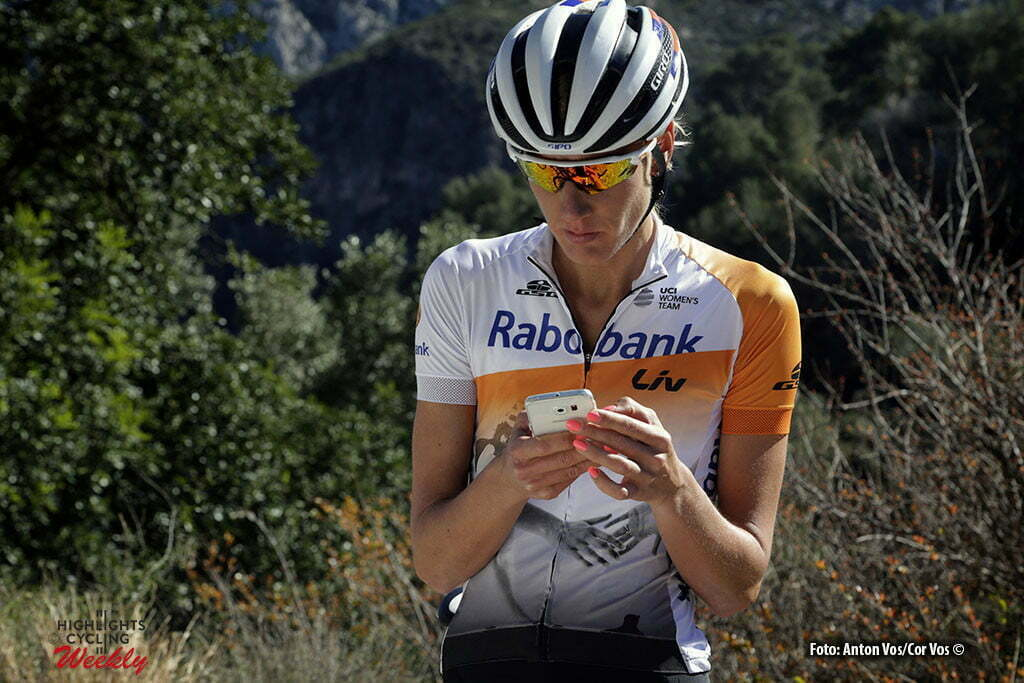 Calpe - Spain - wielrennen - cycling - radsport - cyclisme - Tenniglo Moniek (Netherlands / Rabobank Liv Women Cycling Team) pictured during trainingstage team Rabo LIV Women Cycling Team in Calpe, Spain - photo Anton Vos/Cor Vos © 2016
