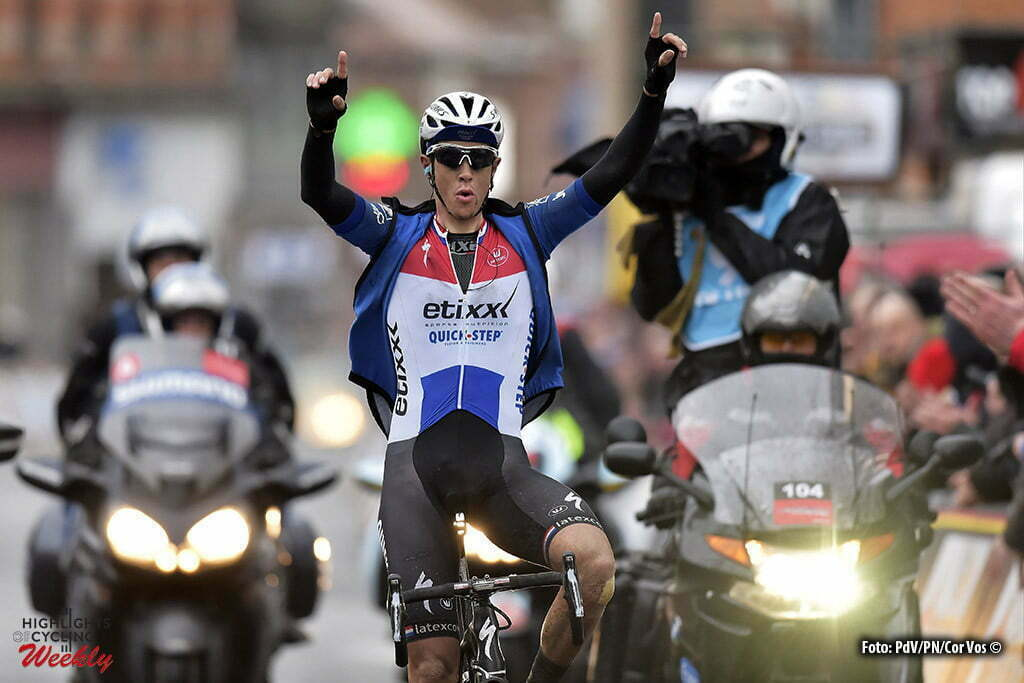 Dour - Belgium - wielrennen - cycling - radsport - cyclisme - Niki Terpstra (Netherlands / Team Etixx - Quick Step) celebrates the victory during the Napoleon Games Cycling Cup Le Samyn 2016 cycling race with start in Quaregnon and finish in Dour, Belgium - photo PdV/PN/Cor Vos © 2016