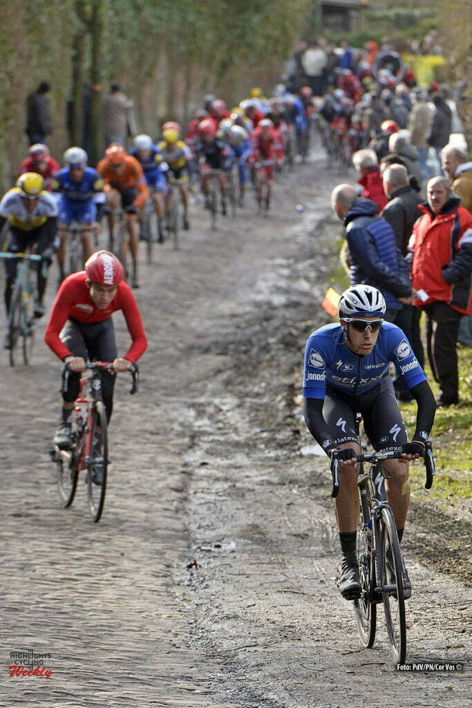 TERPSTRA Niki (NED) Rider of ETIXX - QUICK STEP in action during the Napoleon Games Cycling Cup Le Samyn 2016 cycling race with start in Quaregnon and finish in Dour in Dour, Belgium *** DOUR, BELGIUM - 02/03/2016 Photo by Peter De Voecht/ Photonews ***