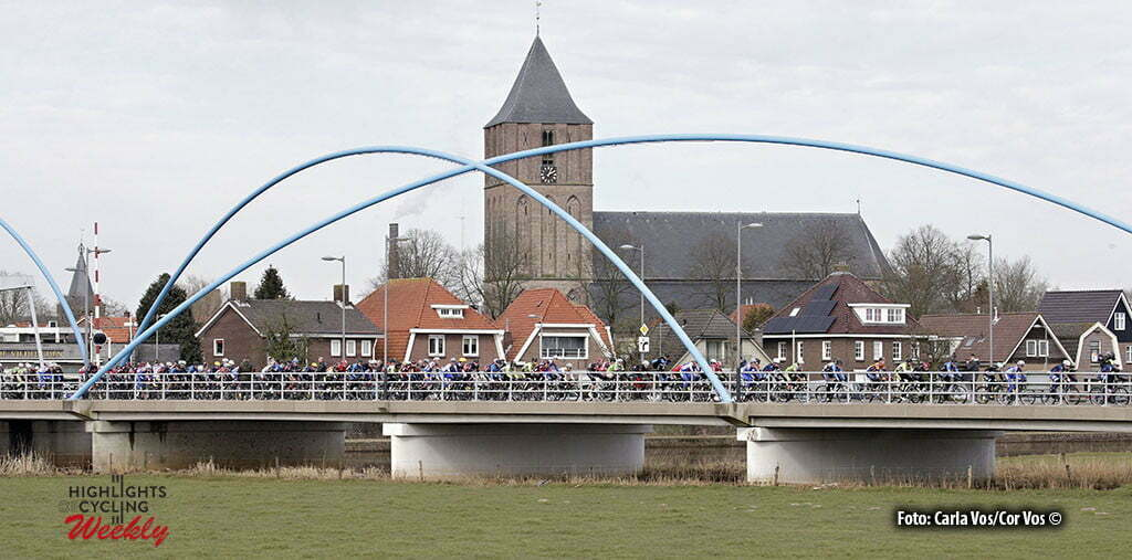 Zwolle - Netherlands - wielrennen - cycling - radsport - cyclisme - illustration - scenery - passage Dalfsen - bridge and church pictured during the Ster van Zwolle - Star of Zwolle - photo Carla Vos/Cor Vos © 2016