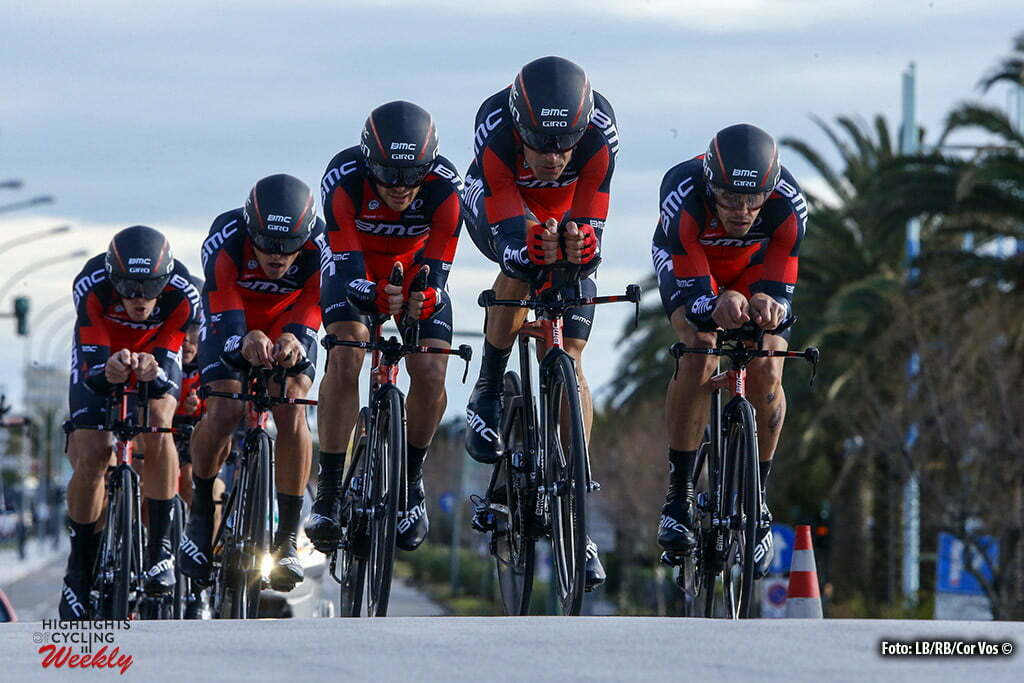 Lido di Camaiore - Italia - wielrennen - cycling - radsport - cyclisme - team BMC Racing pictured during Tirreno Adriatico 2016 - stage 1 from Lido di Camaiore to Lido di Camaiore 22,7 km TTT team Time Trial - photo LB/RB/Cor Vos © 2016