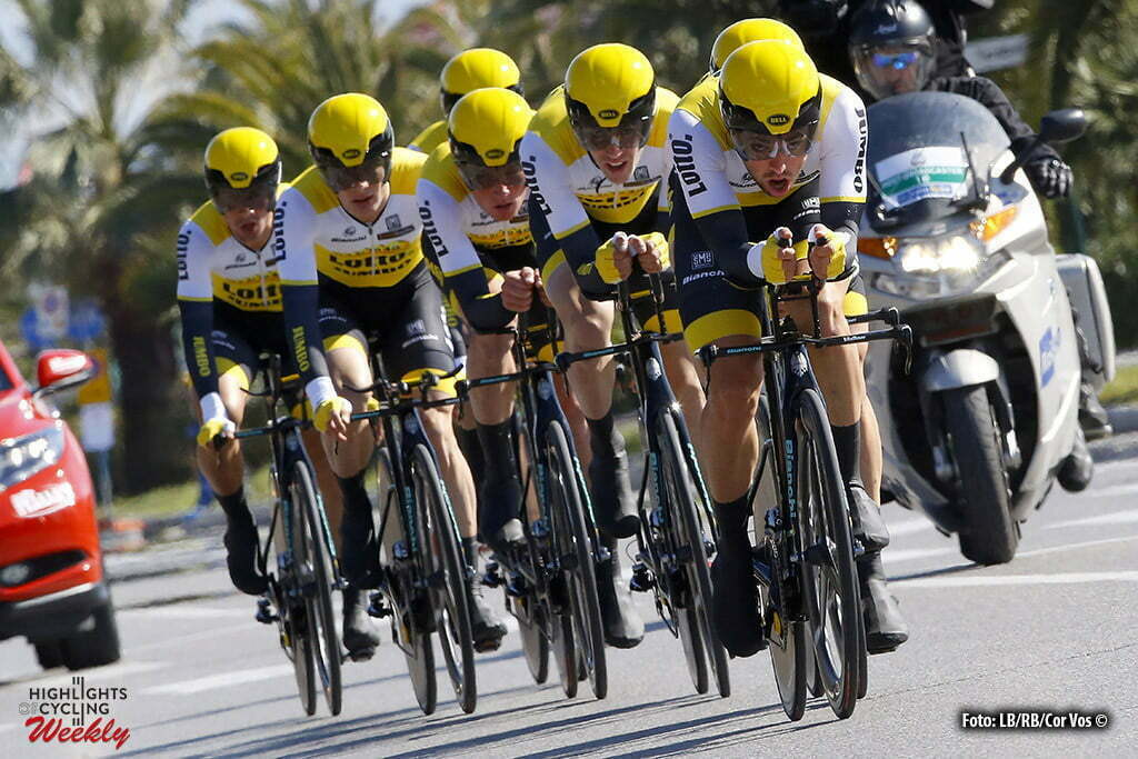 Lido di Camaiore - Italia - wielrennen - cycling - radsport - cyclisme - LottoNL - Jumbo pictured during Tirreno Adriatico 2016 - stage 1 from Lido di Camaiore to Lido di Camaiore 22,7 km TTT team Time Trial - photo LB/RB/Cor Vos © 2016