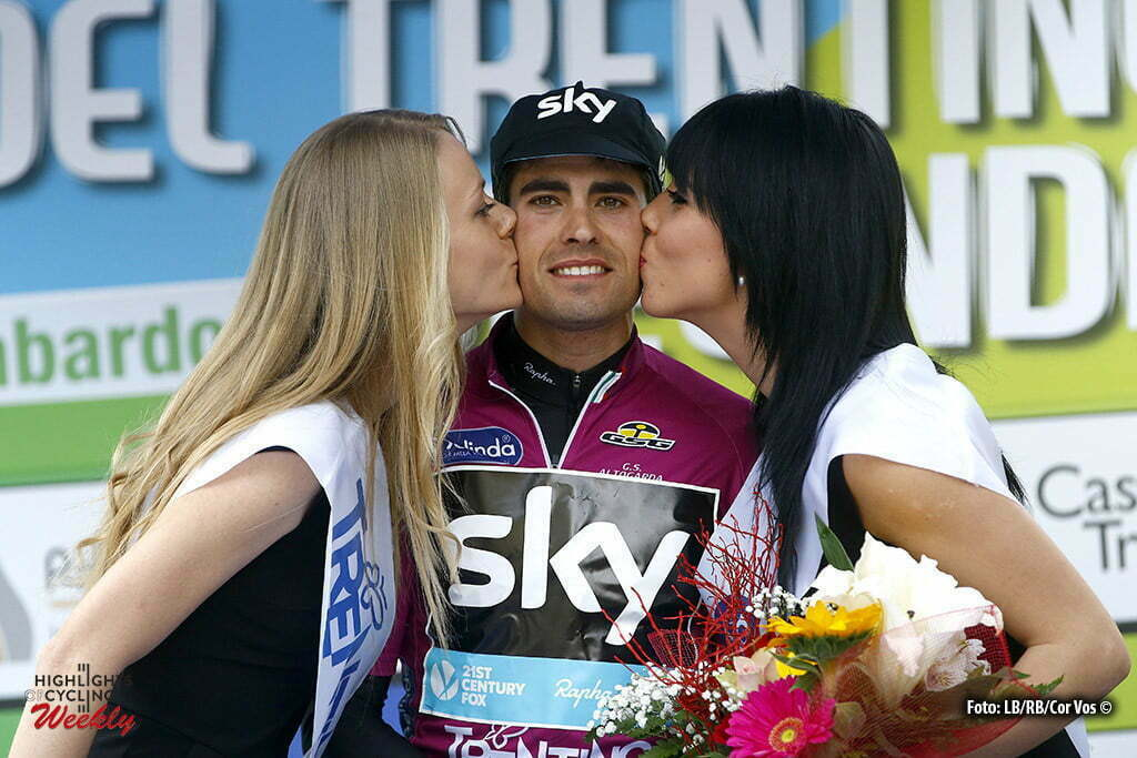 Mezzolombardo - Italy - wielrennen - cycling - radsport - cyclisme - Mikel Landa (Team Sky) pictured during Giro del Trentino Melinda 2016 - stage 3 from Sillian to Mezzolombardo 204,5 km - 21/04/2016 - photo LB/RB/Cor Vos © 2015